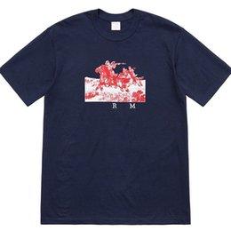 Рубашки всадника онлайн-19ss всадников тройник роскошные орел крылья печать женщин шею футболка высокое качество Новый мужские дизайнерские футболки рубашки HFSSTX236