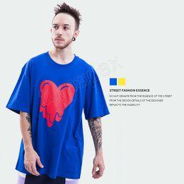 Avrupa ve Amerika Birleşik Devletleri gelgit marka yaz yeni erkek giyim çözülür kalp şeker renk erkek kısa kollu pamuklu Tişört TEE nereden pamuk şeker renk t shirt tedarikçiler