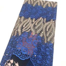 2019 африканские кружевные материалы Швейцарского African Нигерийского Lace ткань Royal Blue французского тюль кружево Зеленый Африканская ткань шнурок 2019 высокого качество Шнурки Материал скидка африканские кружевные материалы