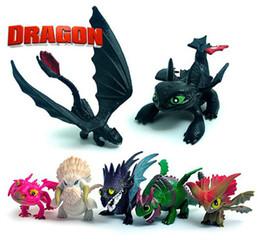 treinar figuras de brinquedos de dragão Desconto Como treinar o seu dragão Figuras de Ação 3-5cm 7pcs definir dragão dos desenhos animados do bebê brinquedos de presente de PVC For Kids A162