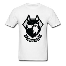 Gângster camiseta on-line-Hipster Diamond Dogs T-shirt Men Tops Tees Classic Black White Clothing Gangster Wolf T Shirt Vintage Cotton Tshirt