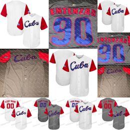 camisas feitas sob encomenda dos jérseis de basebol Desconto Cuba 2017 World Baseball Clássico Jerseys Personalizado Dos Homens Das Mulheres Da Juventude de Alta Qualidade Frete Grátis Todos Os Costurados Camisas de Beisebol