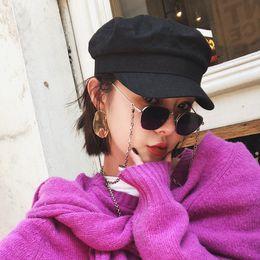 i più nuovi stili di vetro Sconti Novità occhiali fashional in metallo stile stella catena antiscivolo occhiali da sole fatti a mano occhiali da lettura cordino antiscivolo con passante in gel di silice