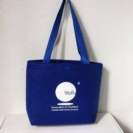 dcbe2324c Venta al por mayor 250 unids / lote personalizada tela de fieltro de lana  bolsas de compras reutilizables regalo boutique eco bolsas con sus anuncios  de ...