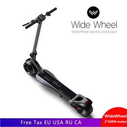 Scooters électriques de planche à roulettes en Ligne-Planche à roulettes électrique originale de scooter Widewheel pour scooter électrique de roue large de 48V de scooter de roue de deux roues 500W