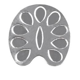 anéis de unha de metal Desconto NEW-Mini Dedo Nail Art Paleta de Mistura para a Mão Livre Manicure Anel Prego ferramentas De Metal (Prata)
