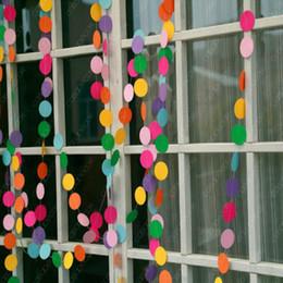 4 metre kalp noktalar kağıt Bayrak Partisi doğum günü düğün olayı için çan çelenk Dekorasyon Banner Bunting 5 cm çaplı DHL nereden küçük ayı aksesuarları tedarikçiler
