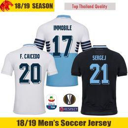 74e0cd5b3 lazio jersey Rabatt 18 19 Lazio Fußball Trikot LULIC ROSSI 2018 2019 SERGEJ Lazio  IMMOBILE Fußballtrikot