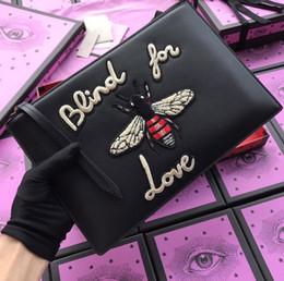 2019 promotions de bronzage Top qualité tigre et abeille concepteur de sac pour hommes et femmes en cuir véritable porte-cartes de visite portefeuille long avec boîte 431416 W30 * h20
