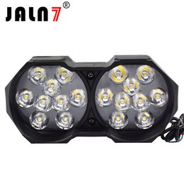 Canada JALN7 LED Double lampes Moto Led Phare Phare Ampoules 12V 3000Lm Moto Projecteur 6500K Moto LED Lumière Décorative supplier led motorcycle headlight bulb Offre