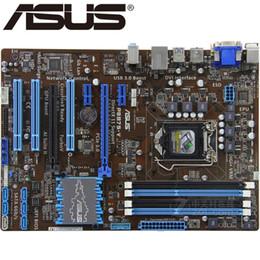 carte mère b75 Promotion Asus P8B75-V Carte mère de bureau B75 Socket LGA 1155 i3 i5 i7 DDR3 32G uATX UEFI BIOS Original Mainboard en vente