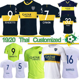 boca juniors jersey thai Coupons - Thai 19 Boca Juniors 16 DE ROSSI Soccer Jersey 19 20 Home Tibet Navy Away yellow GAGO Soccer Shirts Cardona Benedetto Pavón football Uniform