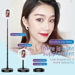 treppiede Sconti Fill staffa luce Light Ring con treppiede per YouTube video e trucco, mini luce della macchina fotografica LED con supporto per telefono cellulare lampada LED