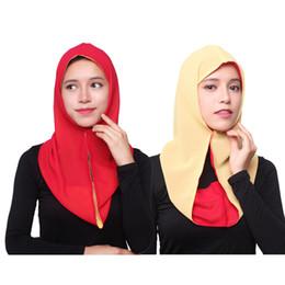 2019 fester roter schal chiffon Verschiedene Farben HS107 Moslemisches hijab Jersey hijab Jersey-Schal Einzelhandel hijabs islamische Abnutzung des hübschen Schal malaysischen Tuches