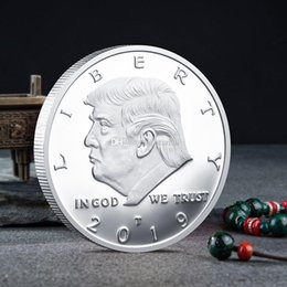 2019 винтажный офисный телефон Трамп 2020 монеты памятная монета американский 45-й президент Дональд ремесло сувенир золото серебро металлический значок коллекция DHL HH9-2183