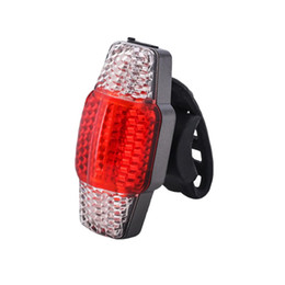 bike brake tail light Promo Codes - Steering COB Induction Bicycle Lamp Turn Signal Safety Bike Smart Brake Cycling Warning USB Rechargeable Accessories Tail Light