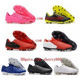Scarponi ad alta stivali a buon mercato online-2019 scarpe da calcio da uomo Tiempo Legend VIII FG scarpe da calcio scarpe da calcio economiche Under The Radar di alta qualità