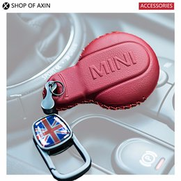 2019 mazda remote covers Caso chave Acessórios Interior de carro Mini Keyless remoto Estrela Key Fob caso capa primeira camada de couro para Mini Cooper Gen3