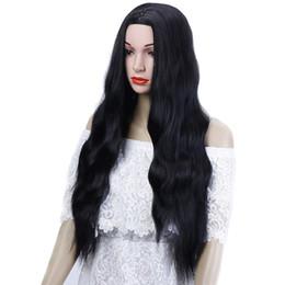 26 `` Pelo rizado largo y rizado para afroamericanos Calor Largo y rizado Peinado de mujer Pelo sintético Amarillo Gris Cosplay desde fabricantes