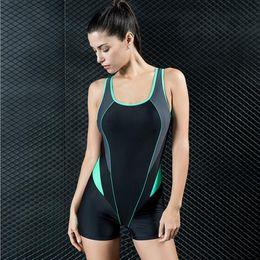 c4e78a04738df 2019 Women Summer Swimwear Sportwear Triangle One-piece Swimsuit High  Quality Professional Training Conservative Plus Size Swimming Wear
