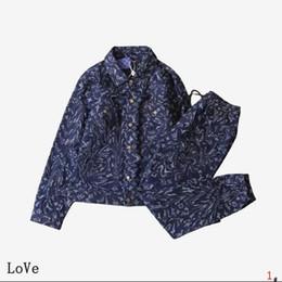 Veste en jean fashion girls en Ligne-Designer Hommes Survêtements lettres Hommes fille Vestes d'impression Sweatpants Fashion Marque Denim Sweat-shirt Kanye Hiphop Jeans Streetwear # 1