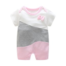 307bbd61c4 good quality 2019 baby romperas summer girls baby cotton short-sleeved jumpsuit  onesies fashion romper baby pajamas clothes onesies 3t deals