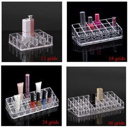 2019 joyería de esmalte de uñas Organizador de maquillaje Lápiz labial Rack Nail Polish Organizador Caja de almacenamiento de joyería Nail Polish Rack para el envío libre rebajas joyería de esmalte de uñas