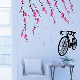 bicicleta de papel Rebajas Pegatinas de pared para bicicleta Papel pintado extraíble para niños Habitación para niños Decoración linda de la venta caliente Decoración adhesiva de papel grande Hogar