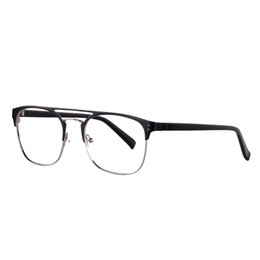 1b08b717cf2a Fashion metal glasses frame men quality acetate temple eyeglasses clear  optical glasses frame beautiful glass frames