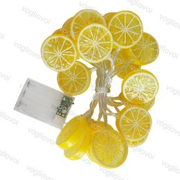 lampe au citron Promotion Lumières De Noël Lemon Lampe 1.5 M 3 M Fête De Vacances Décorer Pur Blanc Utiliser AAA Batterie 4.5V LED Chaîne DHL