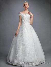 2019 fábrica de casamento de cristal Novo Design Vestidos de Noiva Rendas Modest Qualidade Superior Cristal Noivas Vestidos de Casamento Vestidos de Fábrica Chinesa de Alta Qualidade Homem Feito fábrica de casamento de cristal barato