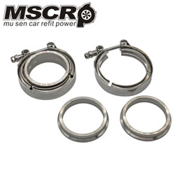"""4/"""" Stainless V-Band Clamp 101mm Exhaust Downpipe Turbo Mid Pipe Intercooler"""