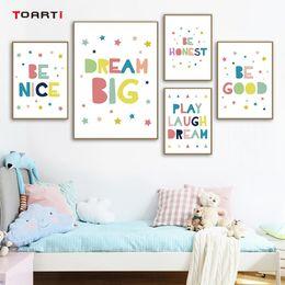 Citações da arte do berçário on-line-Quotes criança impressão minimalista colorido desenho Nursery Art Nordic Prints Crianças Quarto Decoração parede Imagem Mural