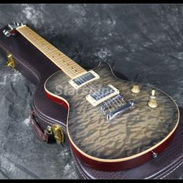2019 chitarre doganali 2019 nuovo design chitarra elettrica tastiera acero può attraverso doganale mogano corpo 3a trapuntato acero grover tuner chitarre doganali economici