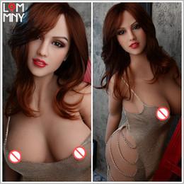 Orale vaginale geschlechtspuppen online-LOMMNY NEW 158cm Silikon-Geschlechts-Puppe Brust Oral Ass Vaginal Sex Echt Größe erwachsene Produkt Top-Qualität Simulation Liebe Toy Dolls für Männer