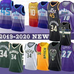 lbj elite Rebajas 45 Donovan Mitchell NCAA Jersey Jazzs 34 Giannis 27 Rudy Gobert 10 Mike Conley Buck Antetokounmpo jerseys del baloncesto