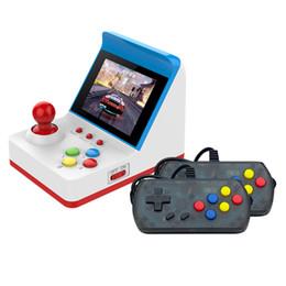 Disegni in miniatura online-Portable Retro Miniature Arcade Console da gioco portatile da gioco da 3 pollici Joystick a schermo 360 Giochi classici regalo per bambini Design culla
