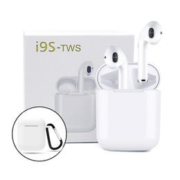 auriculares para dormir Rebajas TWS i9s Auriculares inalámbricos Audífonos Bluetooth Mini para Android v5.0 Auriculares iPhone auriculares Bluetooth con caja de carga magnética