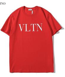 Deutschland 2019 neue tee rote männer männer klassische einfache buchstabe logo druck T-Shirt kurzarm Oansatz T-Shirt großhandel S-XXL supplier wholesale print t shirts Versorgung