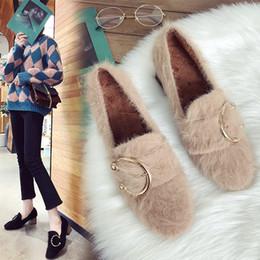 Canada Chaussures de marque Designer Youyedian Mode Femmes Garder Au Chaud Racine Simple Rétro Boucle De Ceinture Bout Rond Femmes Confortable Slip On # w1135 Offre