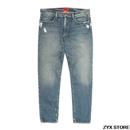 best denim washes Coupons - Best Version 424 Four Two Four Classic Women Men Denim Jeans Hiphop Top Street brand Straight Fit Distressed Washed Jeans 424