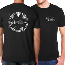 Oyun thrones Targaryen Yangın ve Kan T-shirt Erkekler 2018 Yaz Fit Slim Erkekler T-shirt Erkek Spor Gömlek WGTX111 cheap t shirt game throne nereden t gömlek oyunu taht tedarikçiler