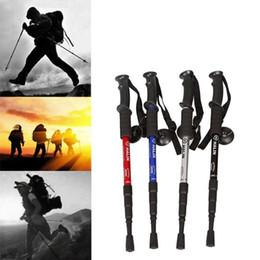 2019 strumenti d'urto 4-Sections Anti Shock Escursionismo Camminare Trekking Trail polacchi Stick regolabili Canes sopravvivenza esterna Self Defense Strumenti Escursionismo Accessori