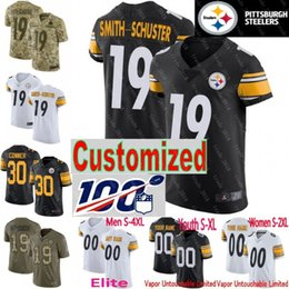 Maillot troy en Ligne-100 Steelers Jersey pièce sur mesure hommes jeunes femmes Jerome Bettis Joe Haden Terry Bradshaw Troy Polamalu James Conner Shazier Elite Limitée