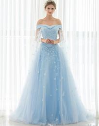 538987c757 Vestidos de novia de lujo vintage 2019 de hombro apliques de encaje con  cuentas en stock Foto real barata Azul claro Watteau vestidos de novia  Vestidos