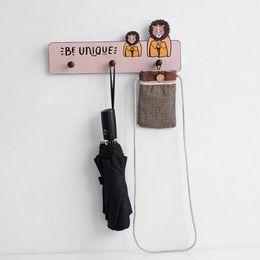 Modelli di cappello animale libero online-Hook Sala Polifunzionale per bambini Ristorante senza saldatura gancio Ufficio modello parete della decorazione della casa Hotel Hat Punch animale libero Nordic