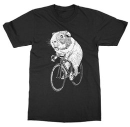 pig t shirts Promo Codes - New 2019 Hot Summer Casual T-Shirt Printing Guinea Pig Wheels Biker Bicycle Pet Animal Zoo Hamster Rodent Mouse Rat Tee Shirt