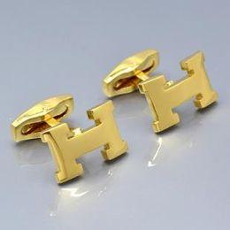 Polsino in metallo dorato online-Vendita calda gemelli della camicia di nozze degli uomini di lusso per oro rosa o argento / bottone di polsino del rame di doratura di rame con il regalo di collegamento del polsino del metallo di modo