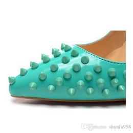 Neue 2018 Womens Sexy PointToe rote untere Fersen, Markendesigner versetzt Damen High Heels, Mode aus echtem Leder Kleid Schuhe Größe 34-45 von Fabrikanten