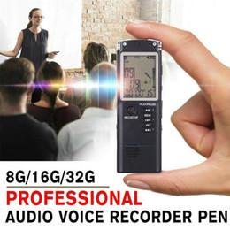 2019 gravador de voz digital sd cartão Gravador de Voz 8GB / 16GB / 32GB USB profissionais 12 Horas gravador HD Mini Digital Audio Sound Recorder Pen Com WAV MP3 Player
